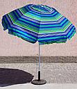Зонт садовий пляжний Sansan Umbrella 024W  2.2м  клапан и наклон, фото 3