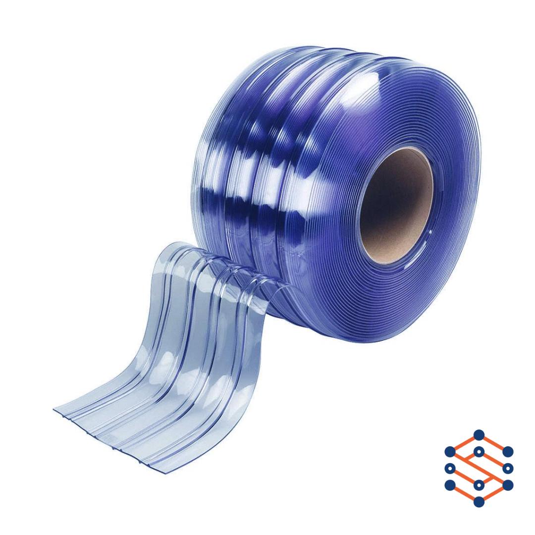 Рифленая лента для пвх завесы 200x2 мм