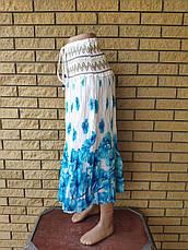 Юбка-сарафан летняя в пол коттоновая MEINA, фото 3