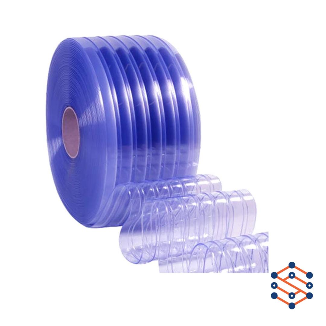 ПВХ лента для завес 300x3 мм усиленная ребрами жесткости