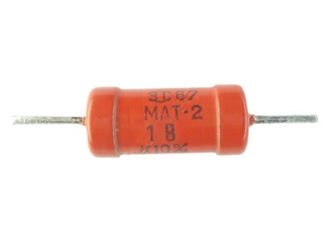 1 Om (МЛТ-2 2W) ±20% Pезистор выводной