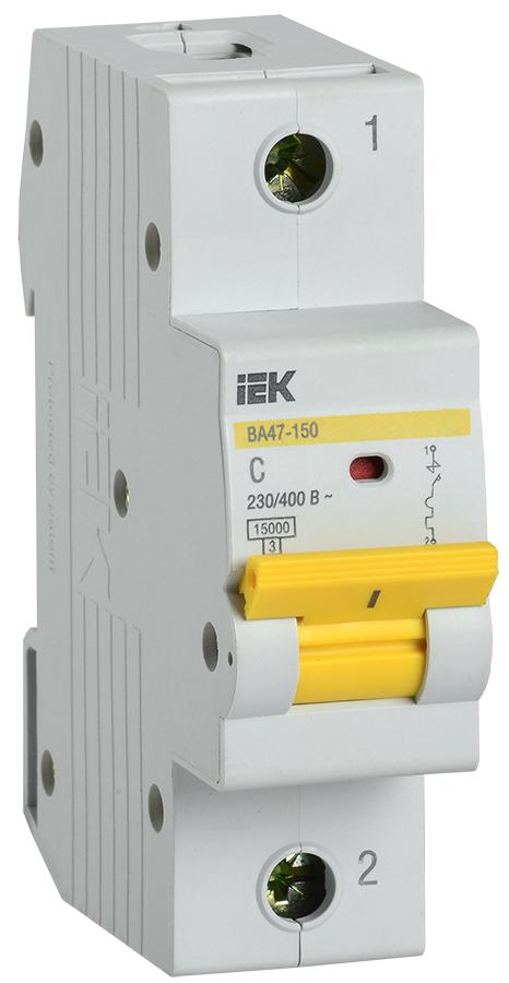 Автоматический выключатель ВА47-150 1Р 63А 15кА х-ка D IEK
