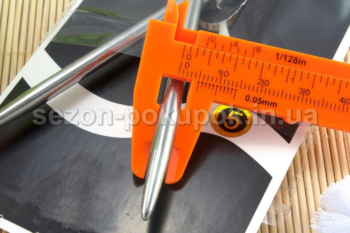 купить спицы 5 для вязания металлические на тросике 80см диаметр