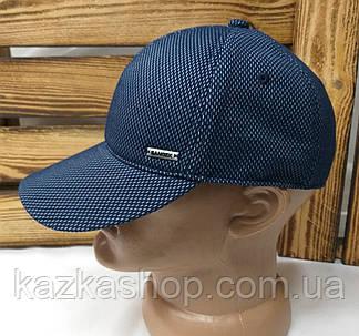 Мужская трикотажная кепка на резинке синего цвета, фото 2