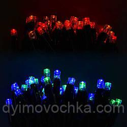 Гирлянда уличная светодиодная С 31317, 100 лампочек, 10 метров, мультиколор