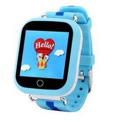 Детские смарт часы Q100S/Q750 умные часы, детские часы с gps. Голубые