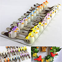 (24шт) Птички декоративные 35х13мм Цена за 24 шт Цвета - на фото