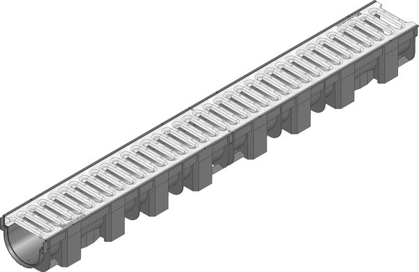 Лоток дренажный (119х89х1000) с оцинкованной решёткой