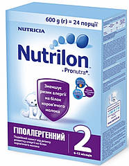 Nutrilon Гипоаллергенный 2, 600 г (Нутрилон) сухая молочная смесь