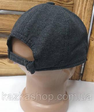 Мужская трикотажная кепка серого цвета с вышивкой New Balance на регуляторе, размеры в наличии S, M, L, фото 2