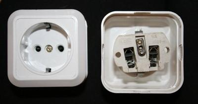 a9039d58c45f Розетка наружной проводки 16А 220В керамическая с подпружиненными  контактами с заземлением белая Житомир - Интернет-