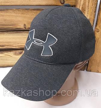 Мужская трикотажная кепка серого цвета со вставкой Under Armour на регуляторе-липучке, размер L, фото 2