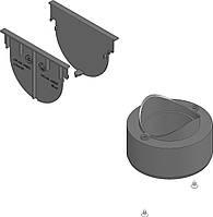 Комплект аксесуарів для лотка (заглушки + випуск). Колір Чорний