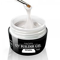 Конструирующий гель Naomi - UV Builder Gel White 28 гр (белый)