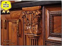 Кухня  дубовая с фасадами Монели и резьбой