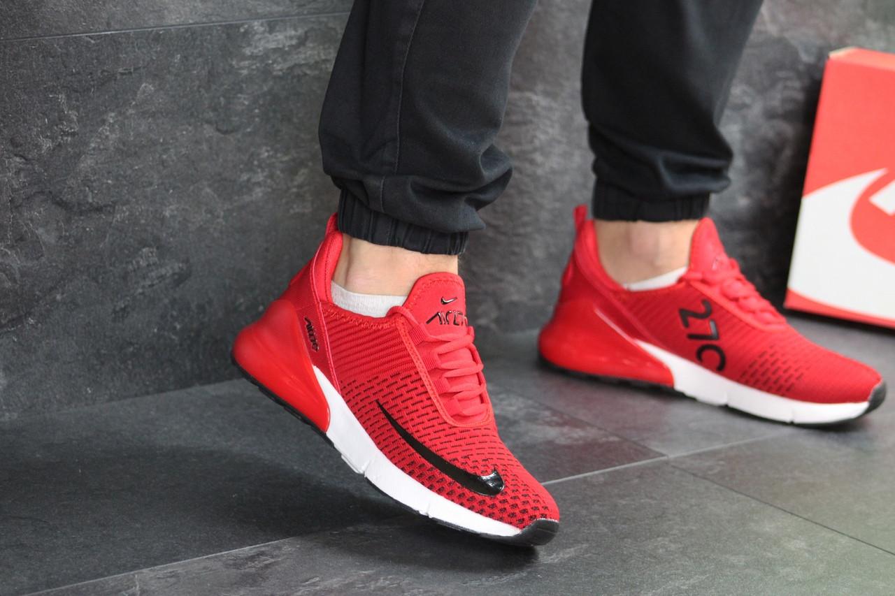eb24326c Найк аир макс 270 красные беговые текстильные (реплика) Nike Air Max 270 Red