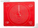 Силиконовый коврик для выпечки антипригарный, большой 62*42 (красный), фото 6