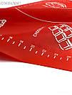 Силиконовый коврик для выпечки антипригарный, большой 62*42 (красный), фото 3