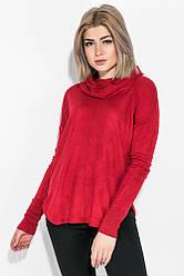Туника женская с длинным рукавом  140V001 (Красный)