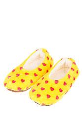 Тапки женские в сердечко 19PL148 (Желтый)
