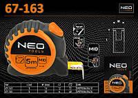 Рулетка с нейлоновой лентой 3м х 16мм., NEO 67-163, фото 1