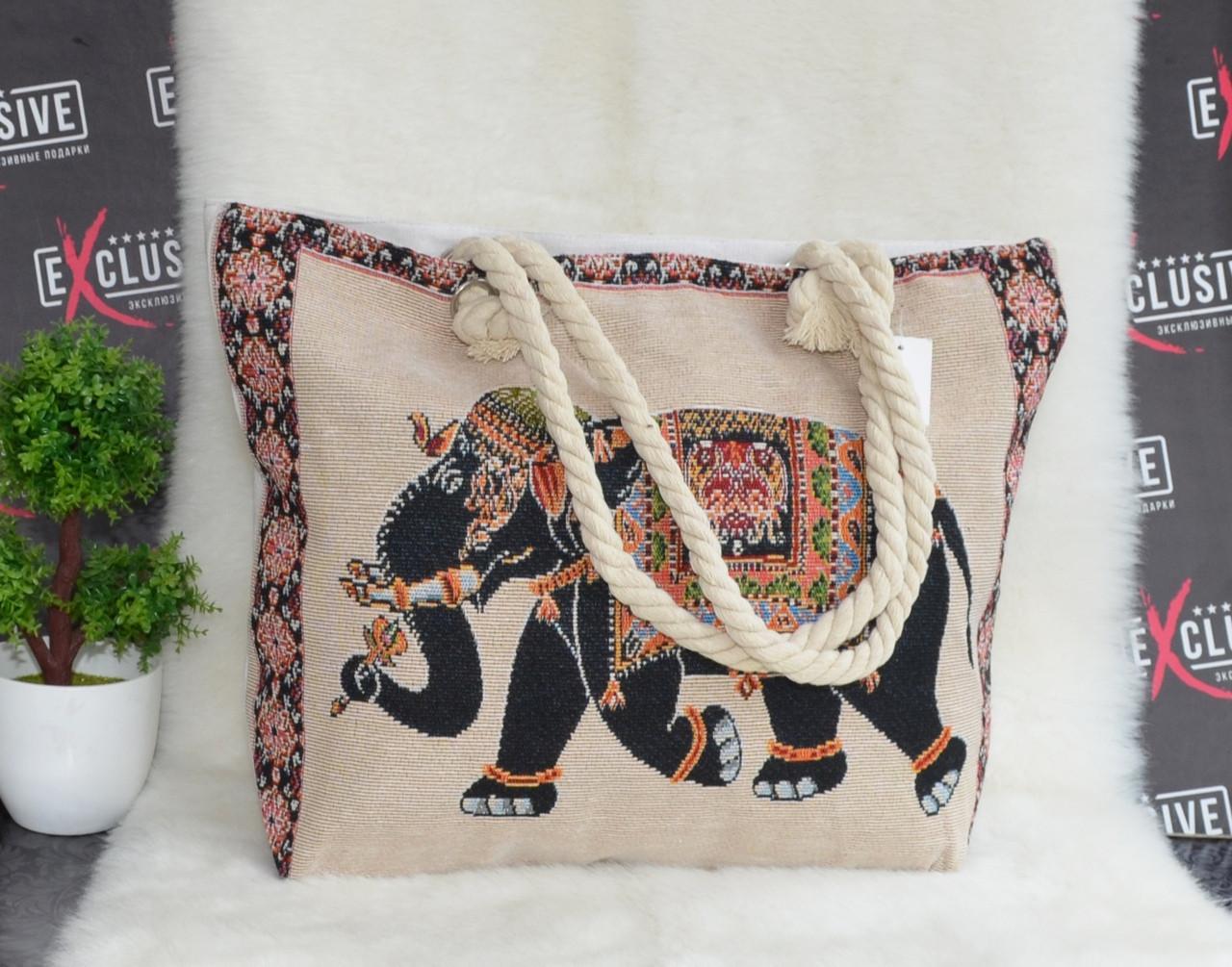 79b31fb8aa80 Женская тканевая пляжная сумка Слон - Интернет-магазин