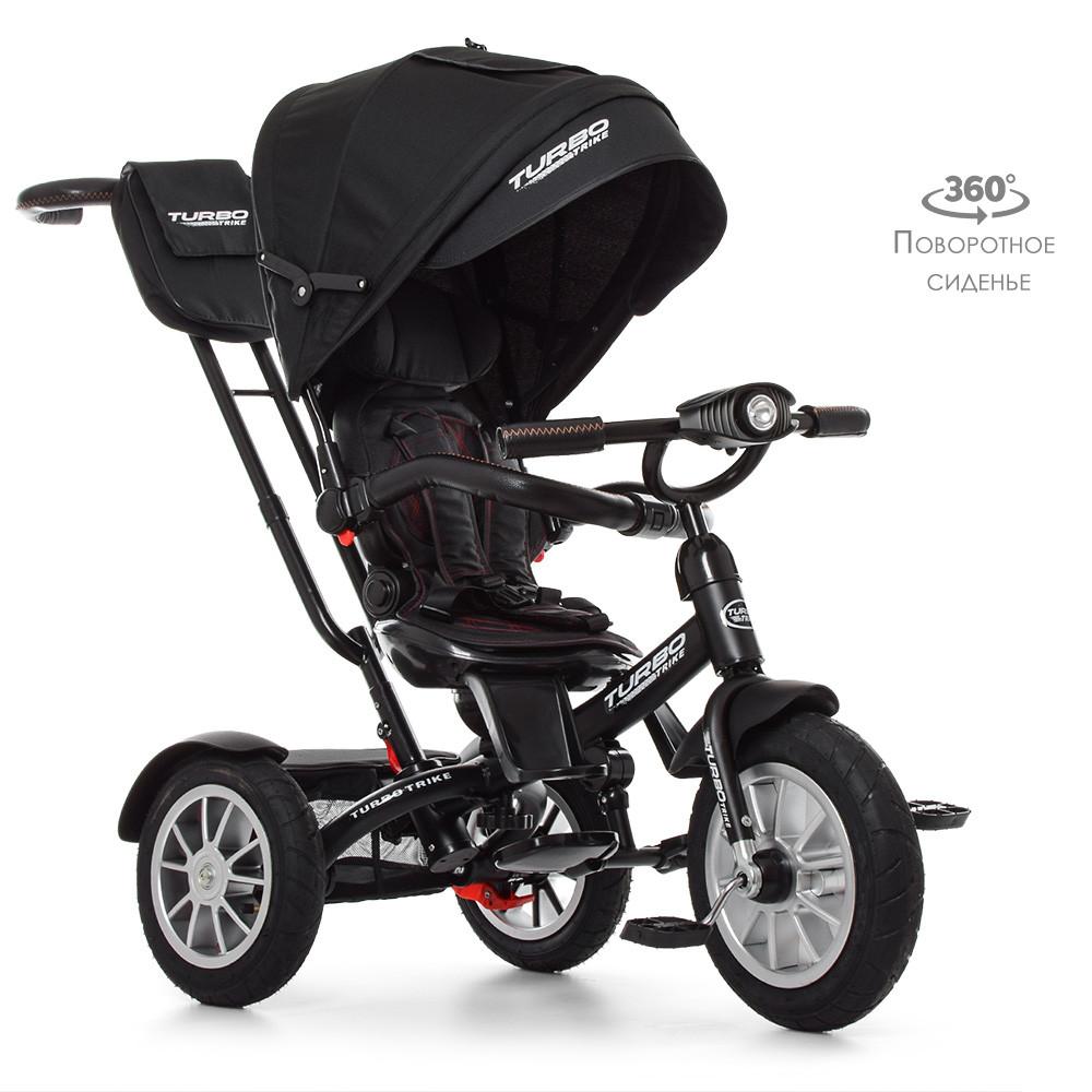 Велосипед детский трехколесный TurboTrike M 4057-20 поворотный со светом Гарантия качества Быстрая доставка