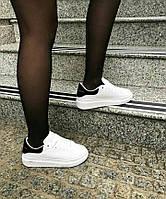 Женские кроссовки в стиле Alexander McQueen Oversized Black and White (Реплика ААА+), фото 1