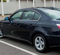 HIC Дефлектор окна BMW 5 Series Е60 2004-2010 Sedan С Хром Молдингом