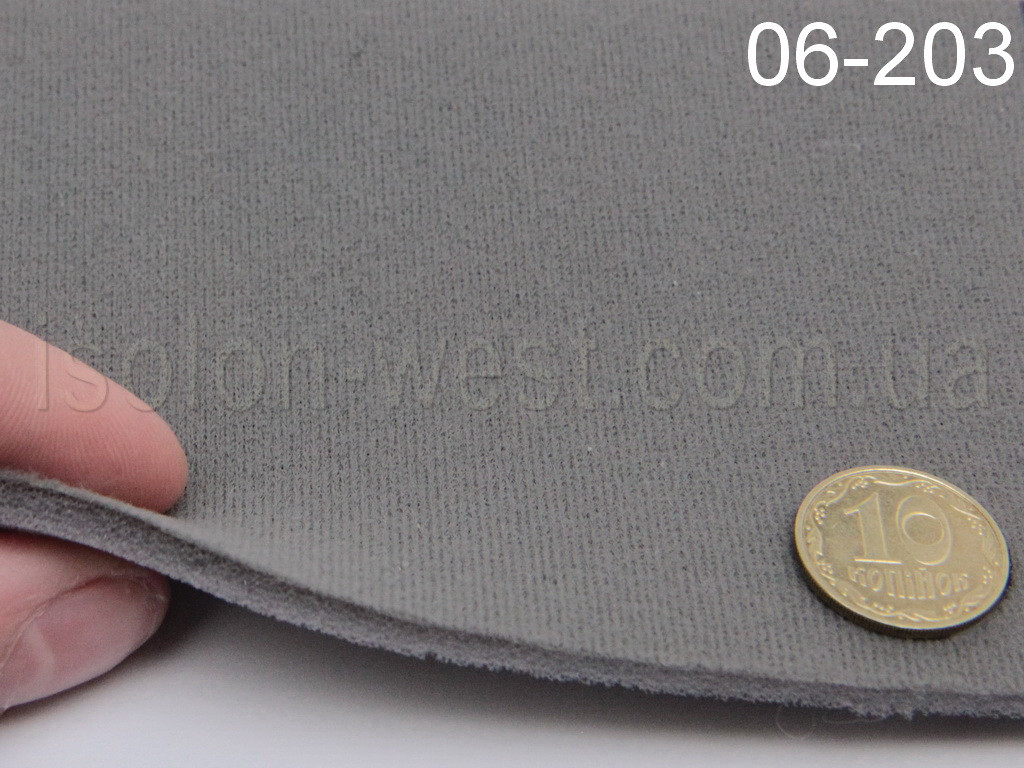 Ткань оригинальная потолочная, серая 06-203 на поролоне шир. 1.5 м