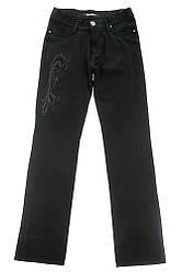 Джинсы женские с пайетками 85P512 (Черный)