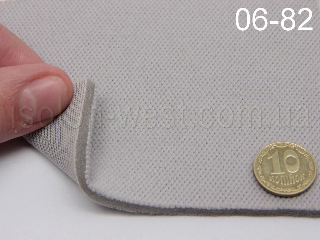 Ткань потолочная, светло-серая 06-82 на поролоне и сетке шир. 1.35м