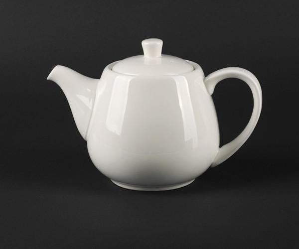 Чайник белый фарфоровый с крышкой Helios Extra white 900 мл (A7065)