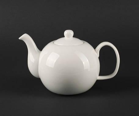 Чайник с крышкой фарфоровый Helios Extra white 1000 мл (A7066), фото 2