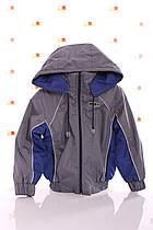 Куртка Кант флис серый с синим