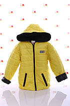 Куртка Спорт флис желтый