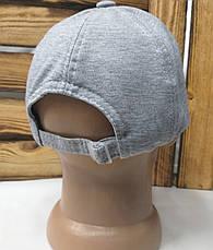 Мужская трикотажная кепка серого цвета с вышивкой New Balance на регуляторе, размеры в наличии S, M, L, фото 3