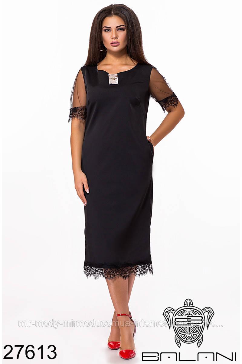 Элегантное батальное платье - 27613 с 48 по 60  размер (бн)