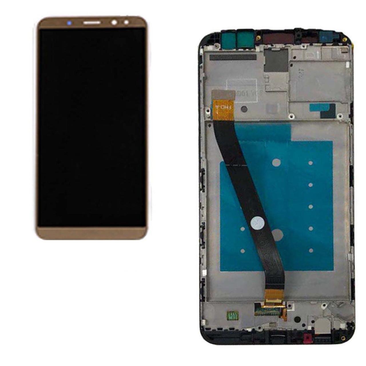 Дисплей (экран) для Huawei Mate 10 Lite RNE-L21 с сенсором (тачскрином) и рамкой золотистый