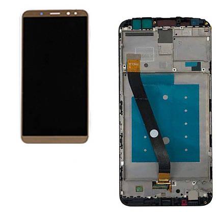 Дисплей (экран) для Huawei Mate 10 Lite RNE-L21 с сенсором (тачскрином) и рамкой золотистый, фото 2