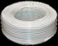Телефонный кабель 4-х жильный бухта 100 метров белый, фото 1
