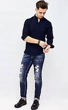 Рубашка мужская GUCCI темно-синяя, фото 3