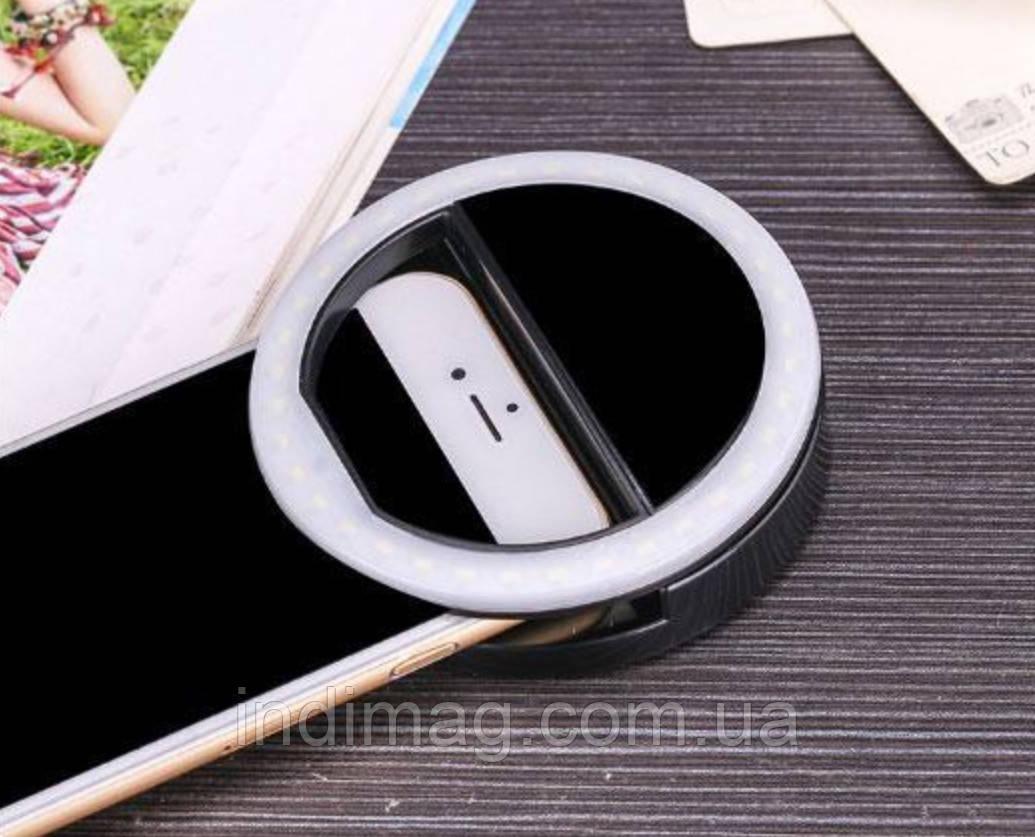 Селфи-кольцо Protech Selfie Ring Light Black  на USB, фото 1
