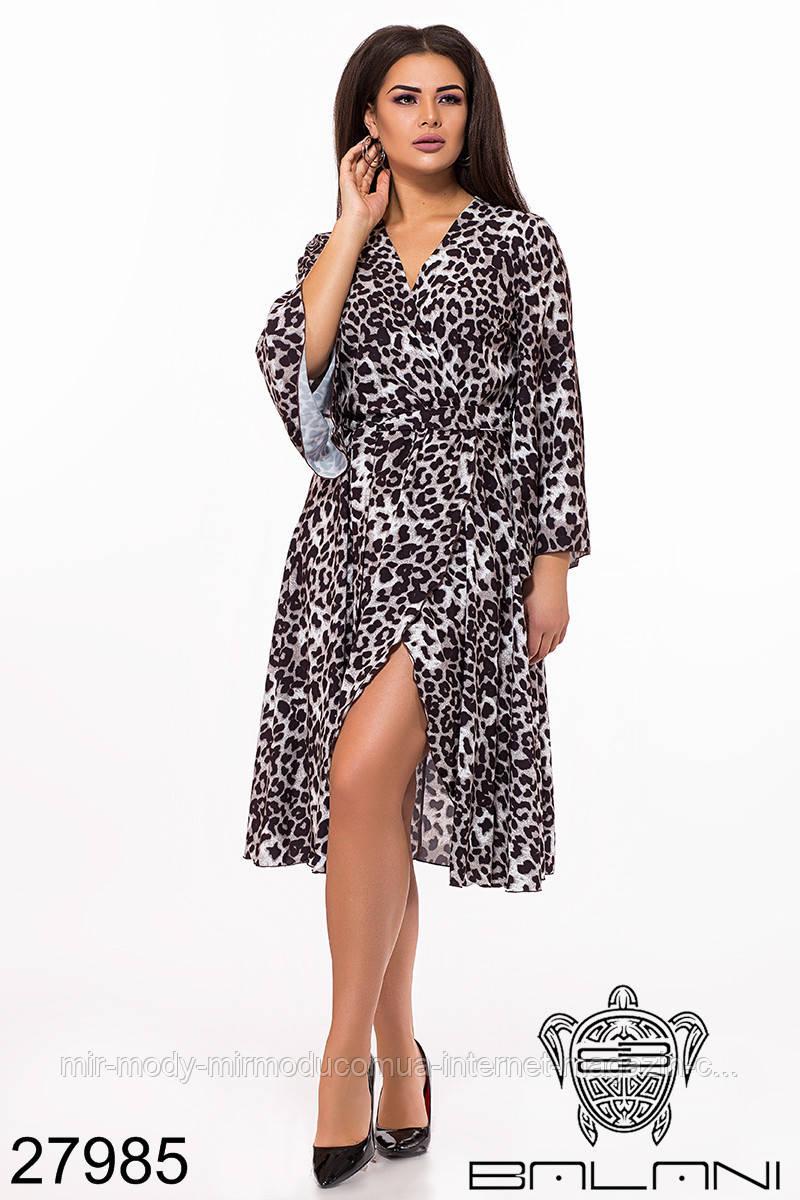 Батальное платье на запах -  27985 (2 цвета) универсальный размер (бн)