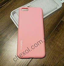 Silicone Cover для Huawei P20 Розовый
