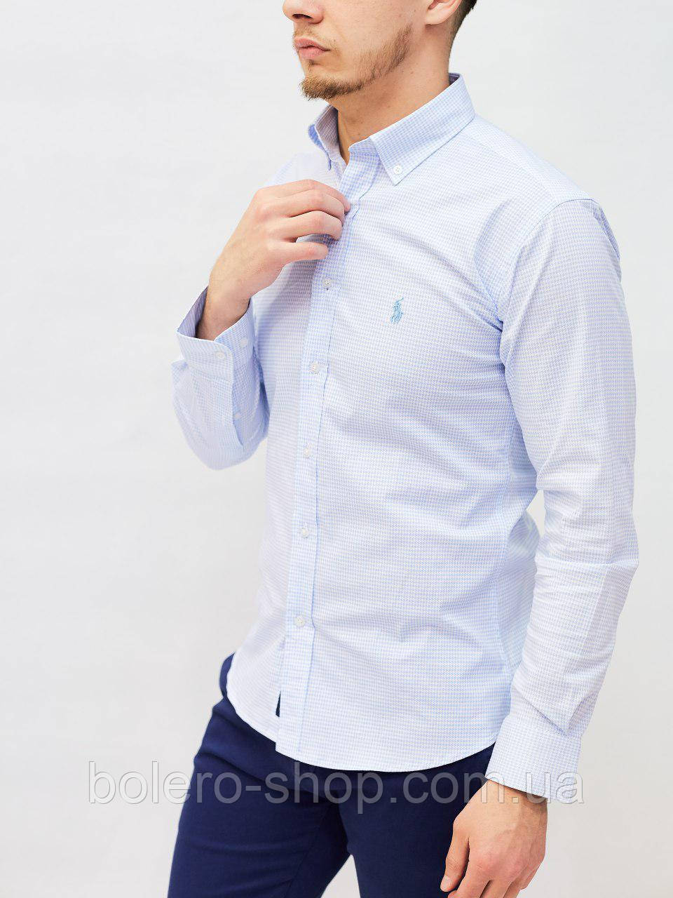 Рубашка мужская Paul Smith голубая