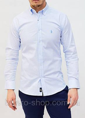 Рубашка мужская Paul Smith голубая, фото 2