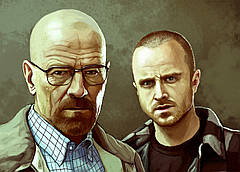 Картина GeekLand Breaking Bad Во все тяжкие уолтер и джесси 60х40см BB 09.006
