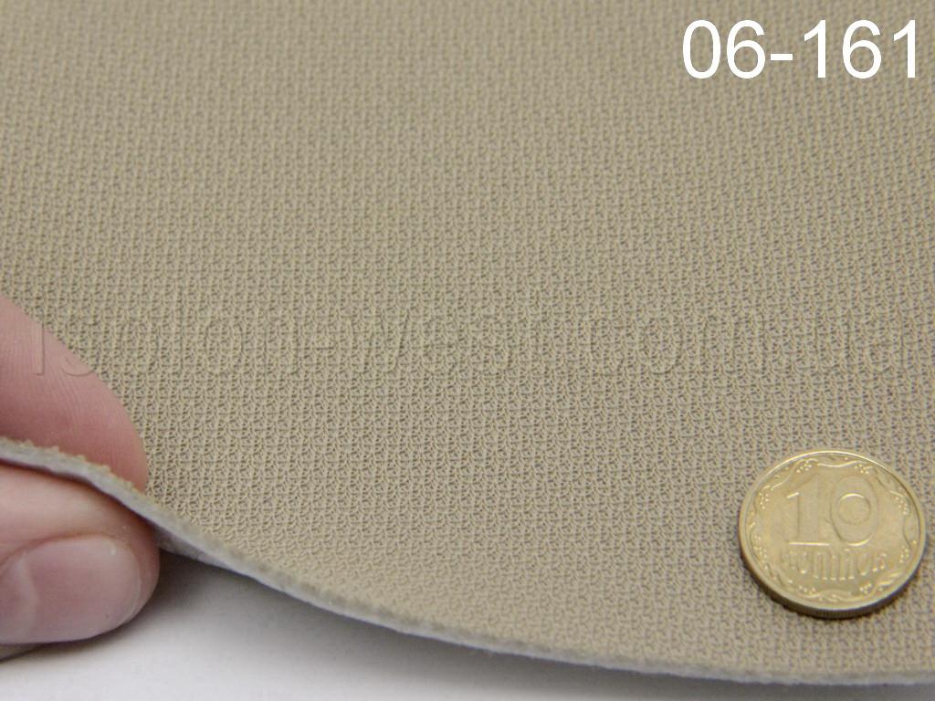 Ткань потолочная, бежевый цвет 06-161  на пленке шир. 1.55м