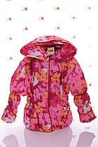 Куртка Под Резинку красные цветы